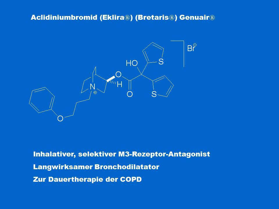Aclidiniumbromid (Eklira  ) (Bretaris  ) Genuair  Inhalativer, selektiver M3-Rezeptor-Antagonist Langwirksamer Bronchodilatator Zur Dauertherapie der COPD
