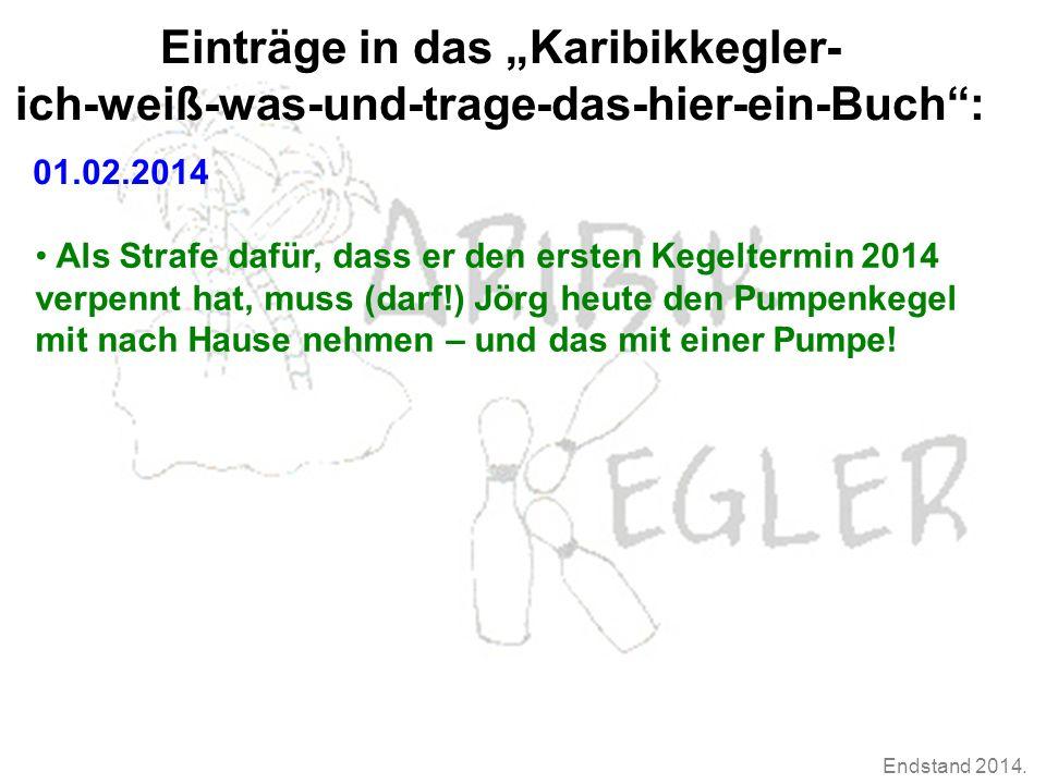 Endstand 2014.