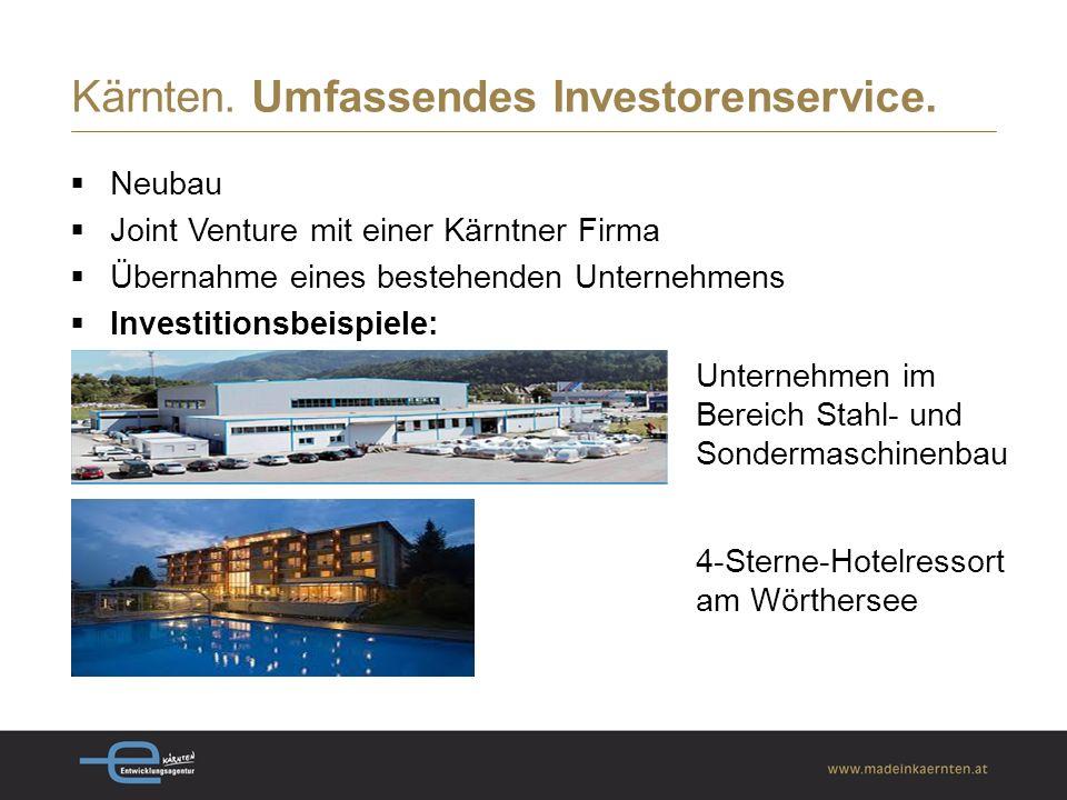 Kärnten. Umfassendes Investorenservice.
