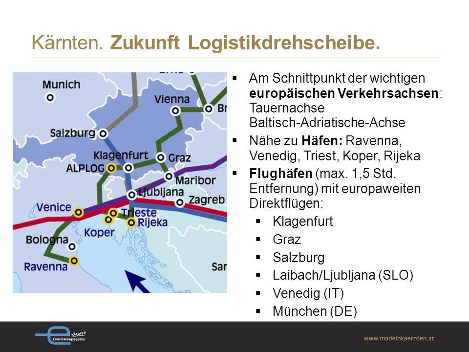 Kärnten. Zukunft Logistikdrehscheibe.