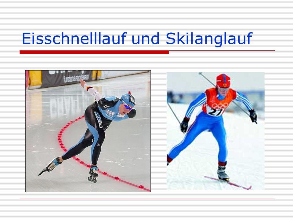 Eisschnelllauf und Skilanglauf