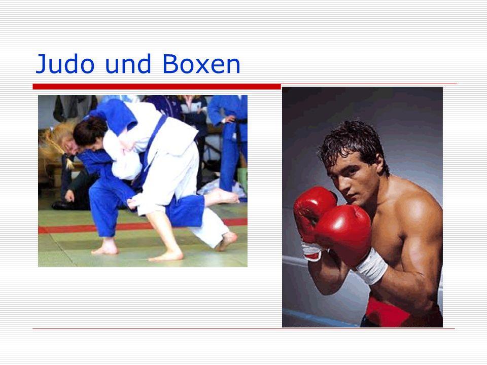 Judo und Boxen
