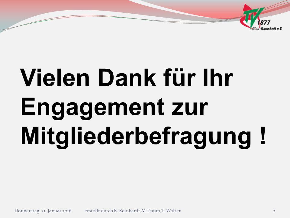 Donnerstag, 21. Januar 2016erstellt durch B. Reinhardt,M.Daum,T. Walter13