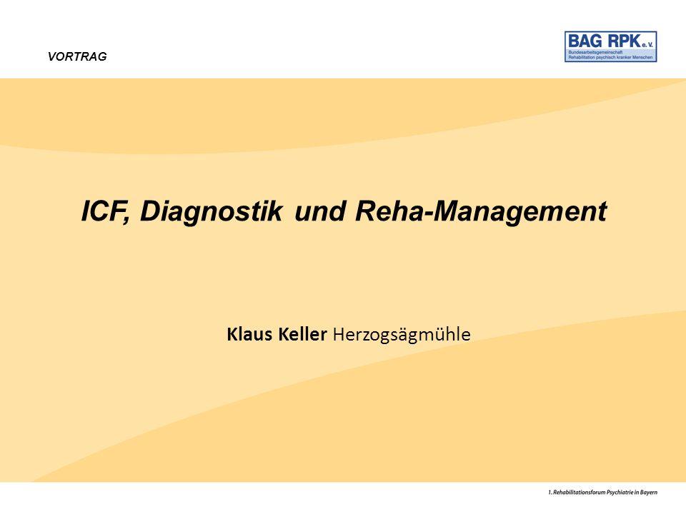 VORTRAG ICF, Diagnostik und Reha-Management Klaus Keller Herzogsägmühle