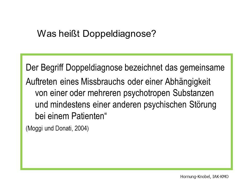 Was heißt Doppeldiagnose? Der Begriff Doppeldiagnose bezeichnet das gemeinsame Auftreten eines Missbrauchs oder einer Abhängigkeit von einer oder mehr