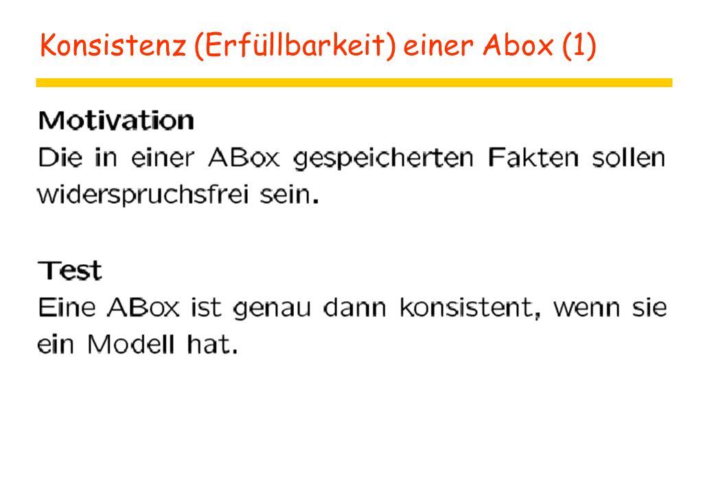 Konsistenz (Erfüllbarkeit) einer Abox (1)