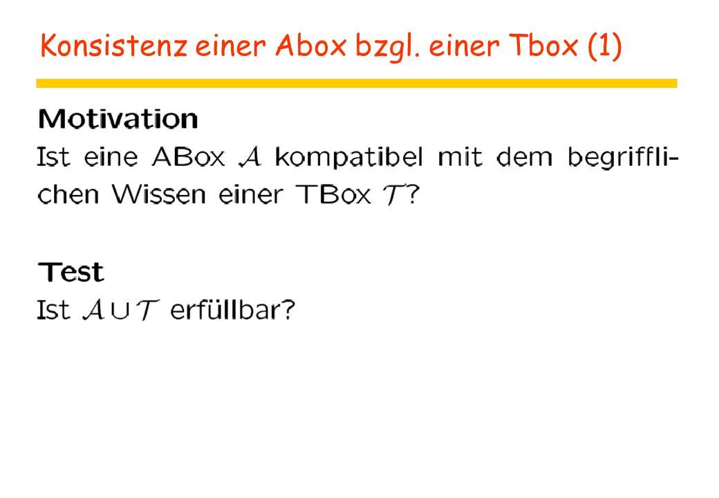 Konsistenz einer Abox bzgl. einer Tbox (1)