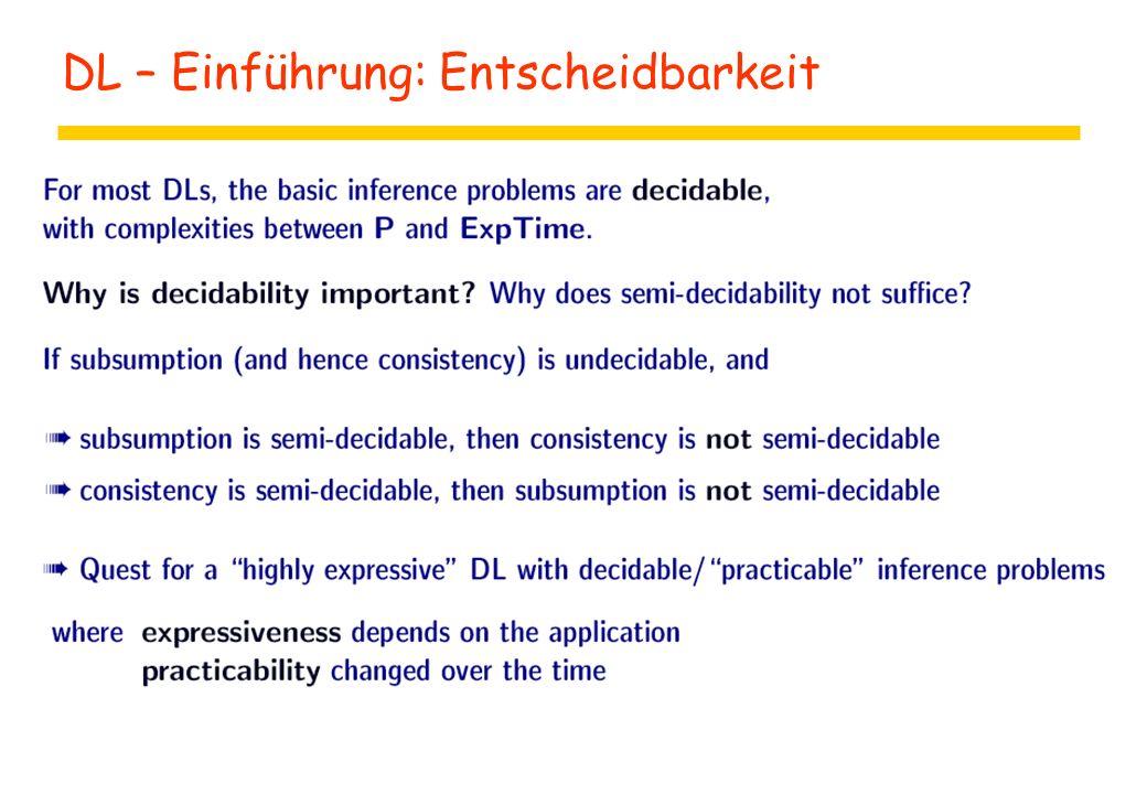 DL – Einführung: Entscheidbarkeit
