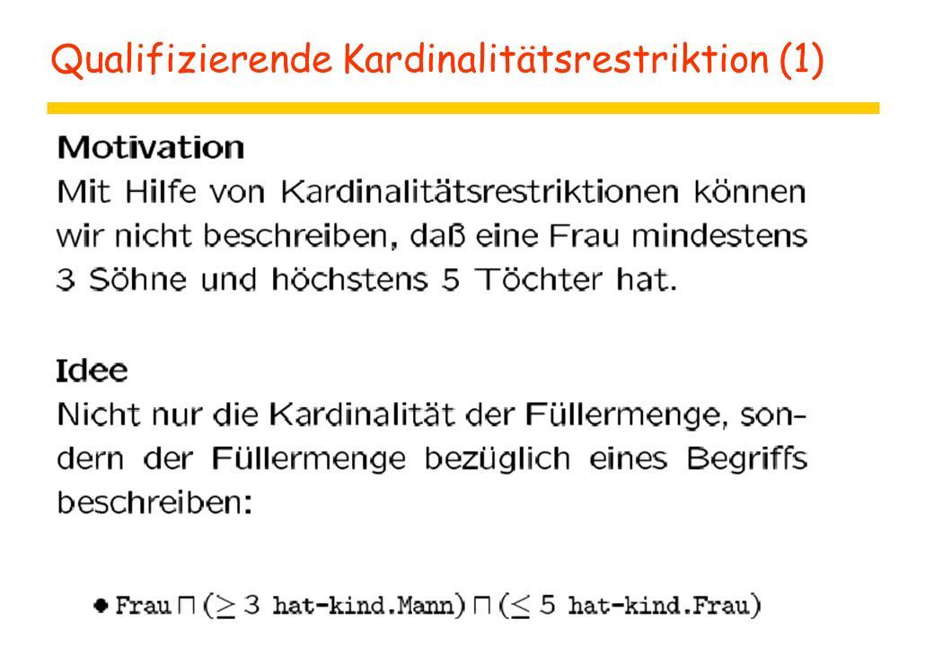 Qualifizierende Kardinalitätsrestriktion (1)