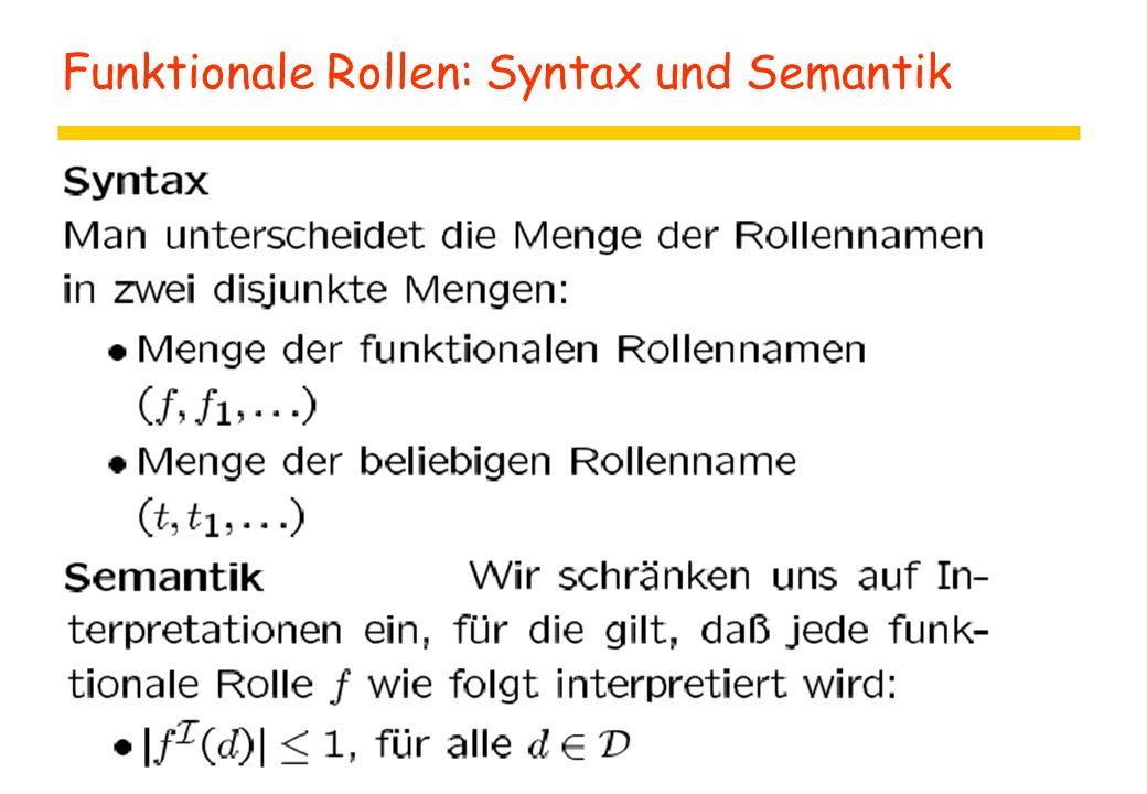 Funktionale Rollen: Syntax und Semantik
