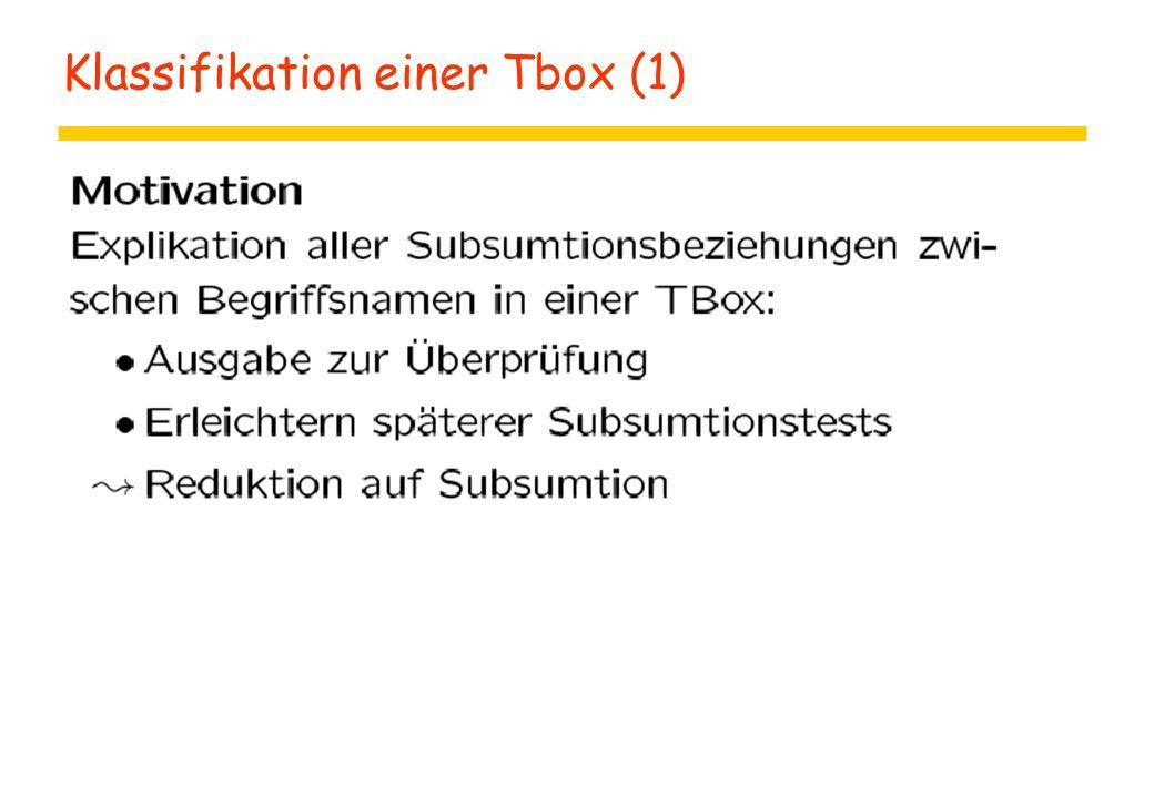 Klassifikation einer Tbox (1)
