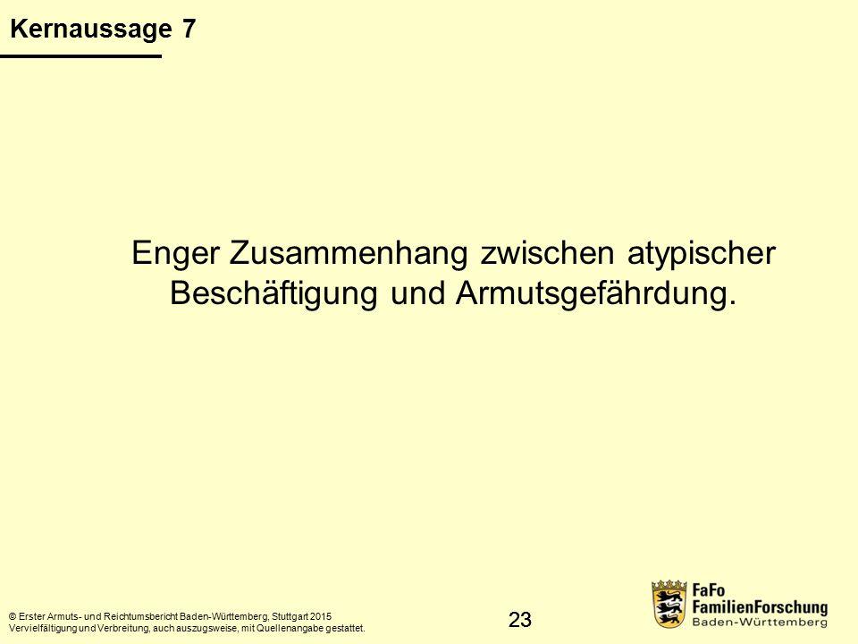 24 Armutsgefährdung und atypische Beschäftigung © Statistisches Landesamt Baden-Württemberg, Stuttgart, 2015 Vervielfältigung und Verbreitung, auch auszugsweise, mit Quellenangabe gestattet.