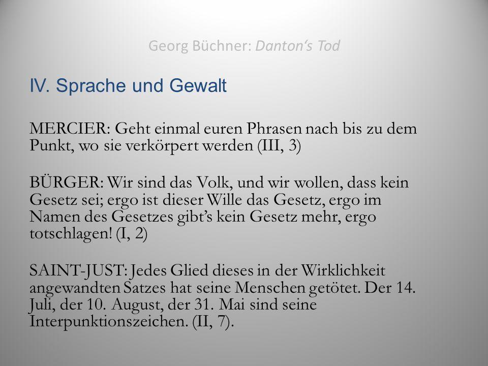 Georg Büchner: Danton's Tod IV.