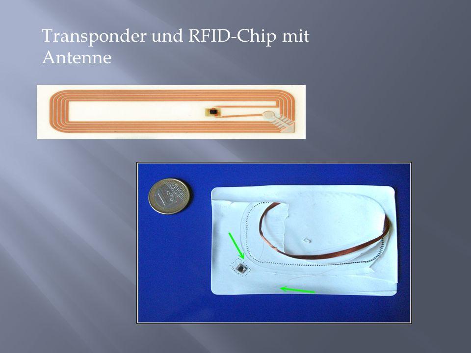 Transponder und RFID-Chip mit Antenne