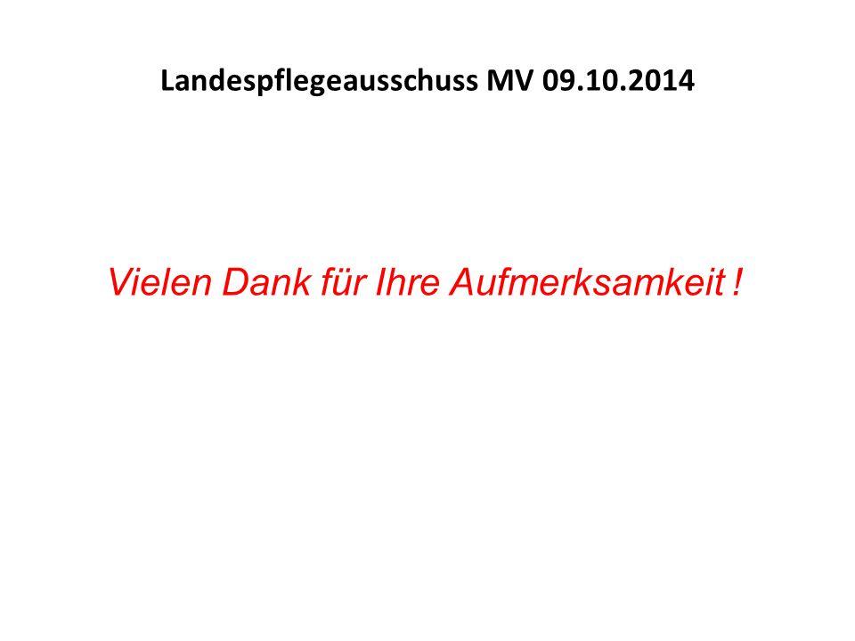 Vielen Dank für Ihre Aufmerksamkeit ! Landespflegeausschuss MV 09.10.2014