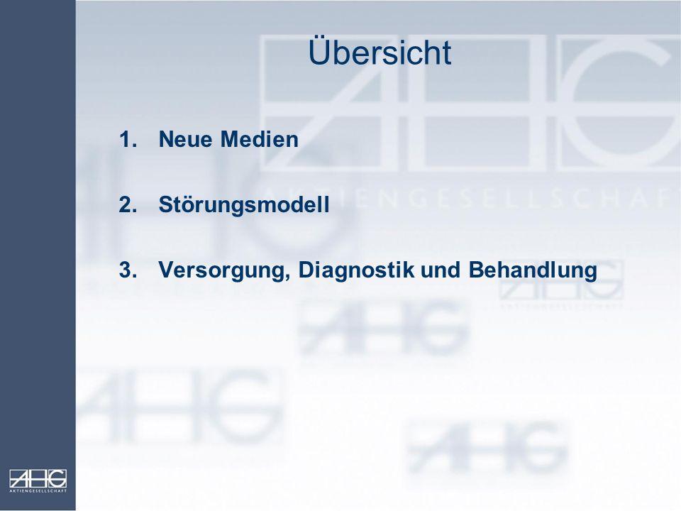 Übersicht 1.Neue Medien 2.Störungsmodell 3.Versorgung, Diagnostik und Behandlung