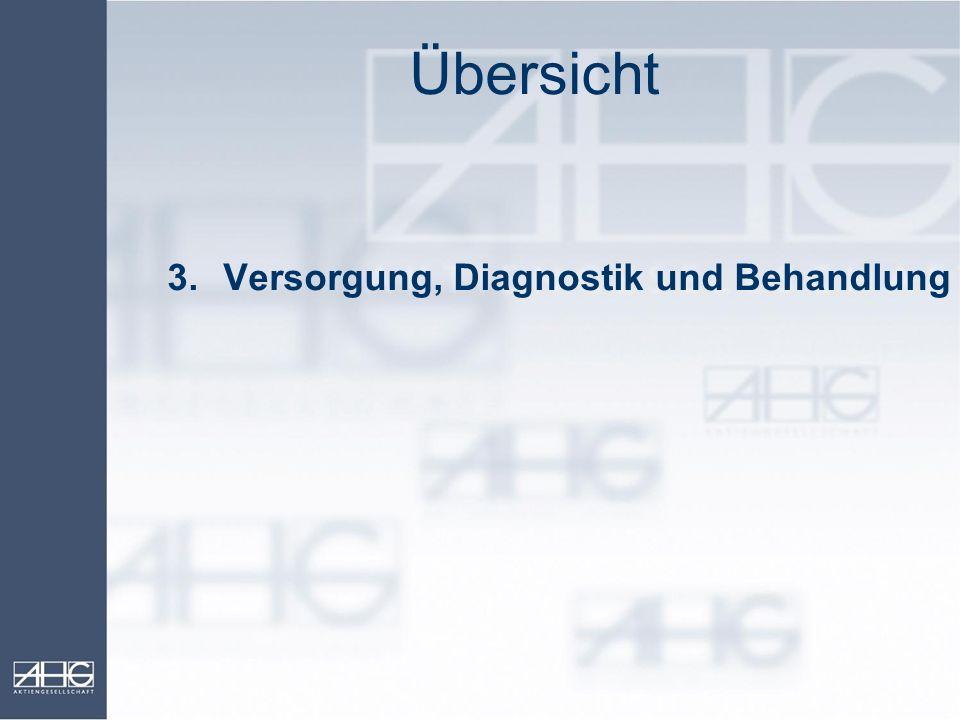 Übersicht 3.Versorgung, Diagnostik und Behandlung