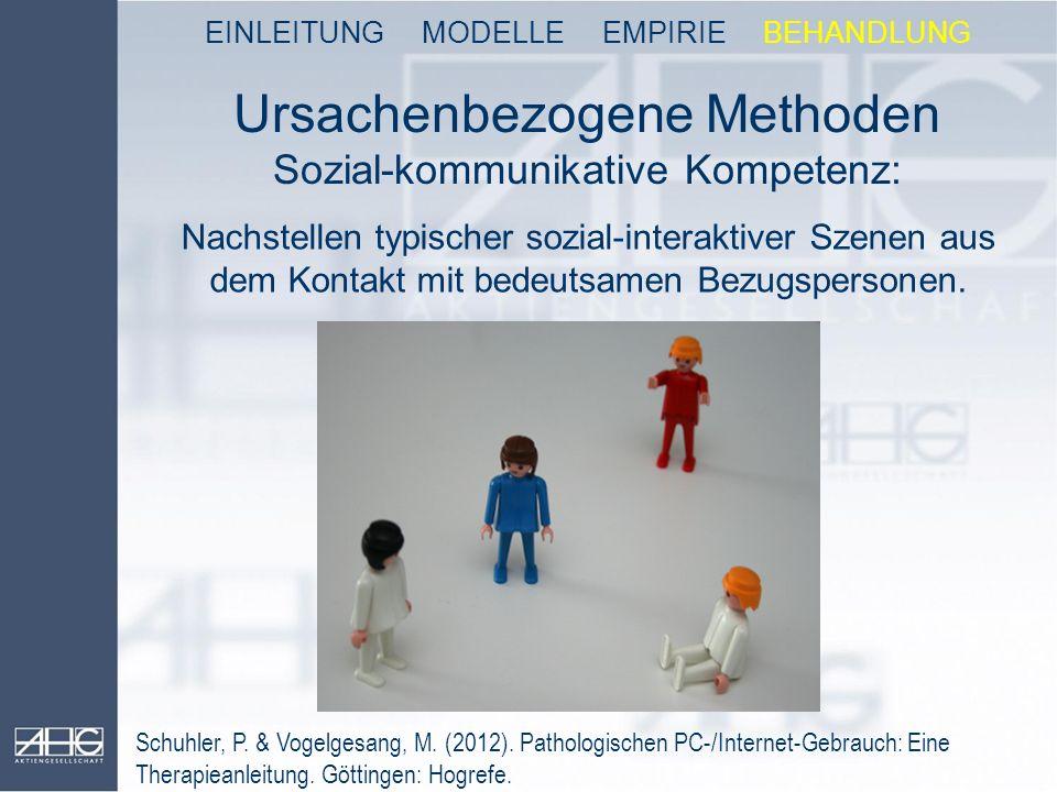 Ursachenbezogene Methoden Sozial-kommunikative Kompetenz: Nachstellen typischer sozial-interaktiver Szenen aus dem Kontakt mit bedeutsamen Bezugsperso