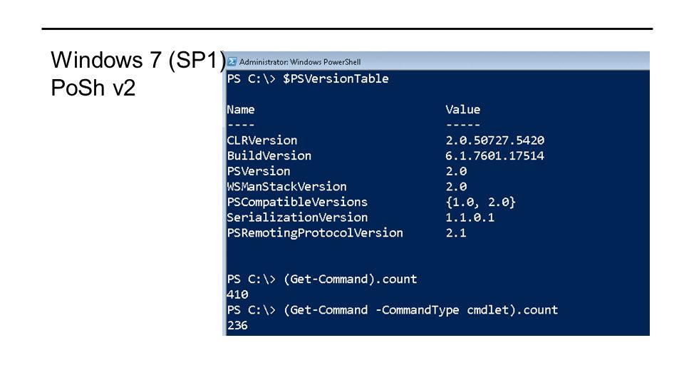Windows 7 (SP1) PoSh v2
