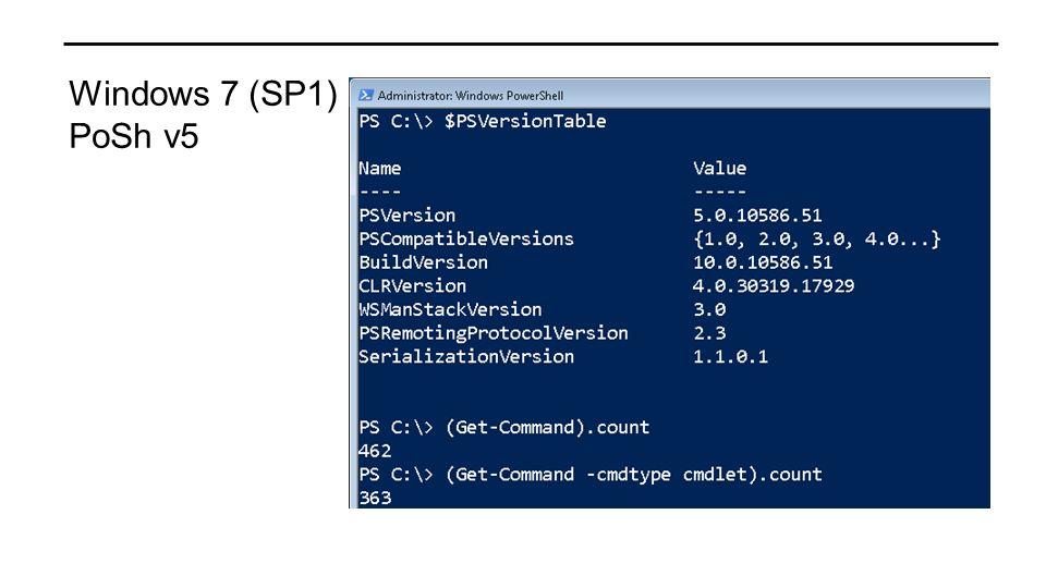 Windows 7 (SP1) PoSh v5