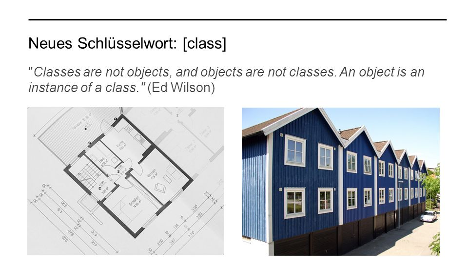 Neues Schlüsselwort: [class] Classes are not objects, and objects are not classes.