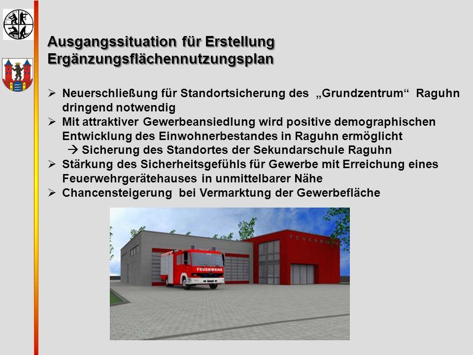 """Ausgangssituation für Erstellung Ergänzungsflächennutzungsplan  Neuerschließung für Standortsicherung des """"Grundzentrum"""" Raguhn dringend notwendig """