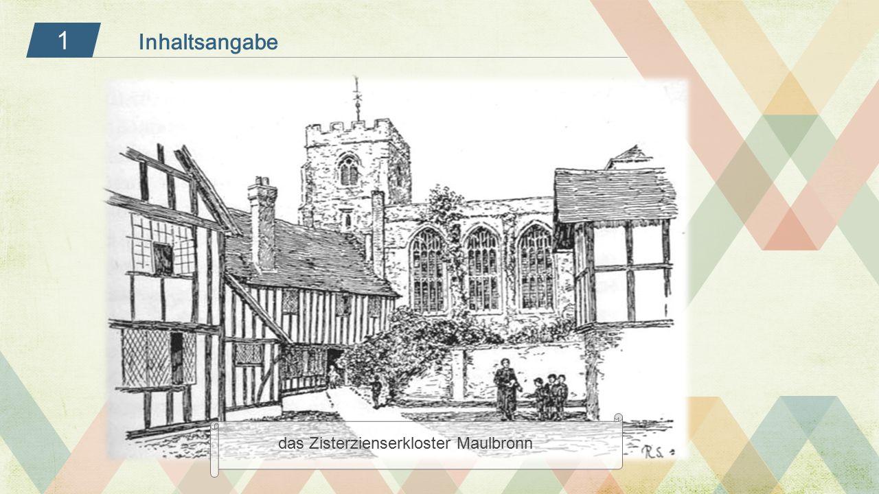 1 das Zisterzienserkloster Maulbronn