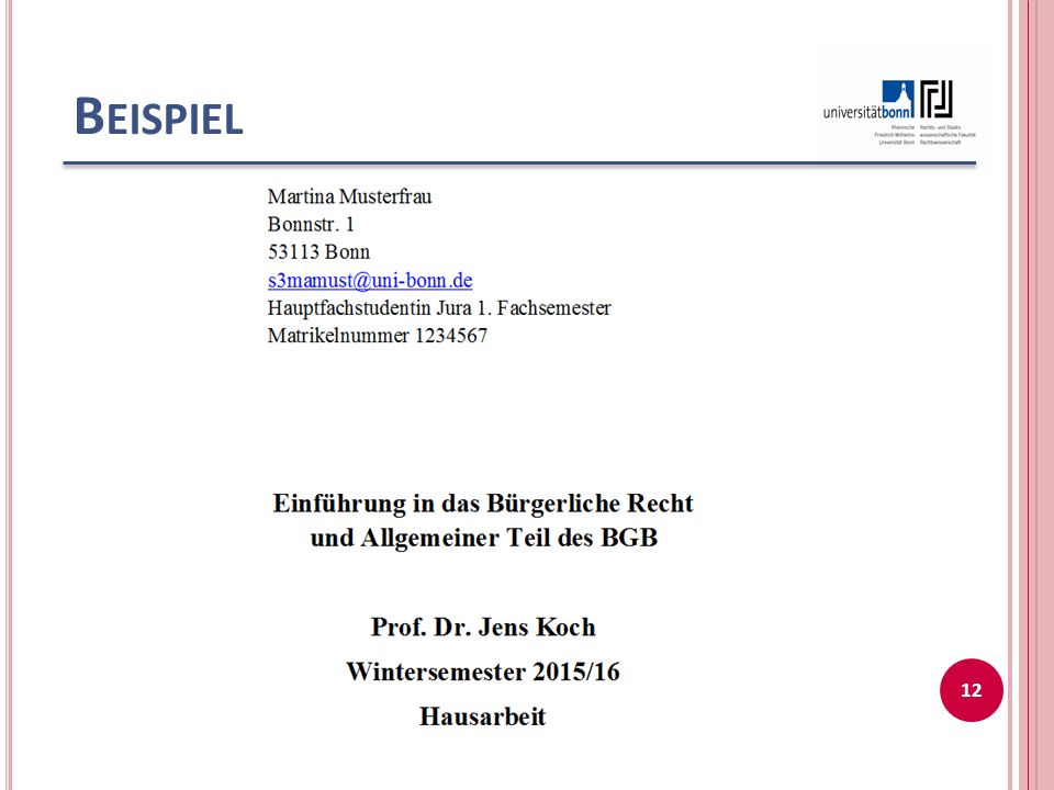 B EISPIEL 12