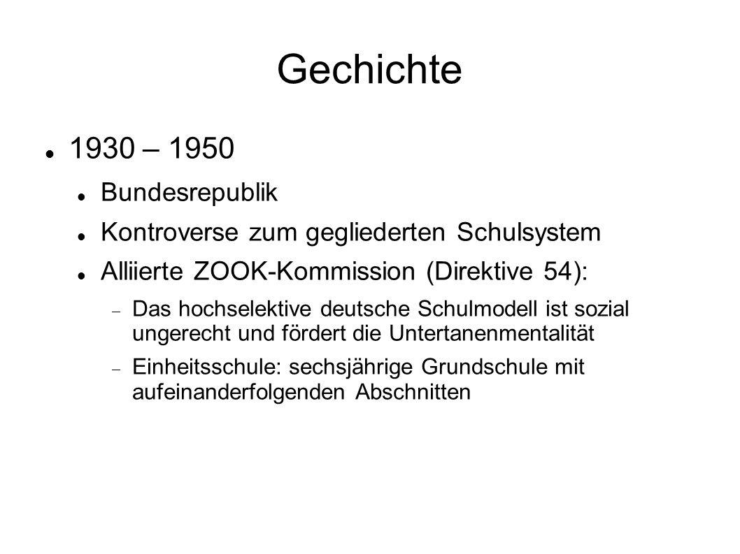 Geschichte 1930 – 1950 DDR Neulehrer Abschaffung der Prügelstrafe Einheitsschule Arbeiter- und Bauernfakultäten Anzahl der studierenden Arbeiterkinder:  1958: 53%; 1967: 30%; 1988: 10%