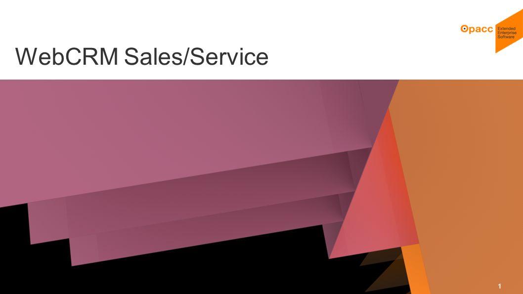 Opacc, CH-Kriens/LucerneOpaccConnect 201430.10.2014 2 WebCRM Sales/Service Voller Sichtkontakt zu Ihren Kunden Was ist in der Zwischenzeit passiert WebCRM Sales Überblick Beispiele Live WebCRM Service Überblick Ausblick