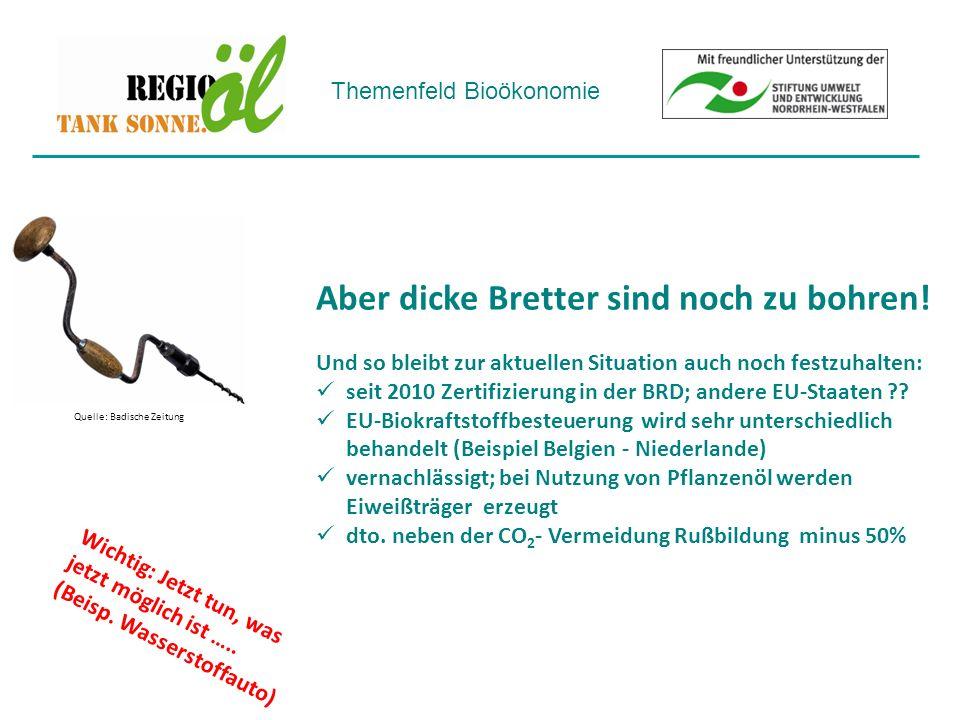 Themenfeld Bioökonomie Beispiel: 3 Kehrmaschinen der Stadt Aachen, bis 2013 in Betrieb!