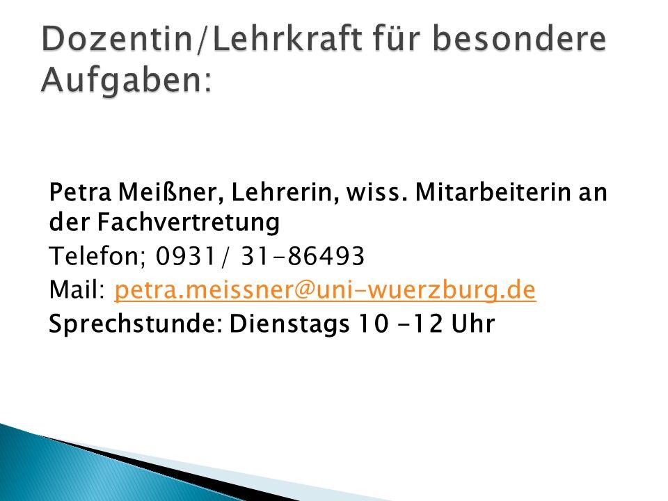 Petra Meißner, Lehrerin, wiss.
