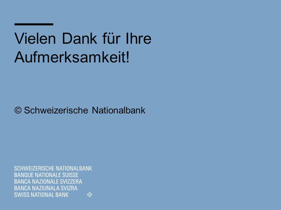 © Schweizerische Nationalbank Vielen Dank für Ihre Aufmerksamkeit!