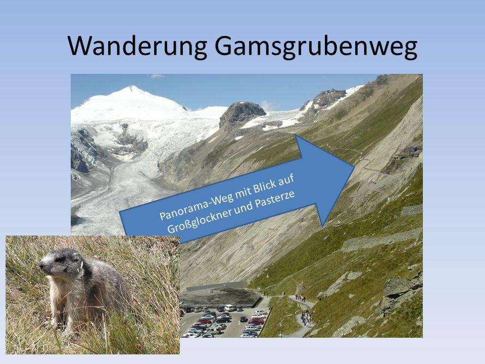 Wanderung Gamsgrubenweg Panorama-Weg mit Blick auf Großglockner und Pasterze