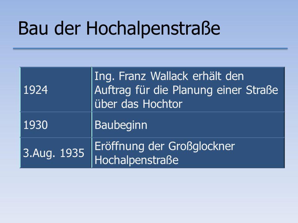 Bau der Hochalpenstraße 1924 Ing.