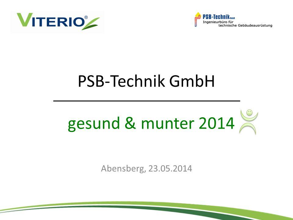 PSB-Technik GmbH Abensberg, 23.05.2014 gesund & munter 2014