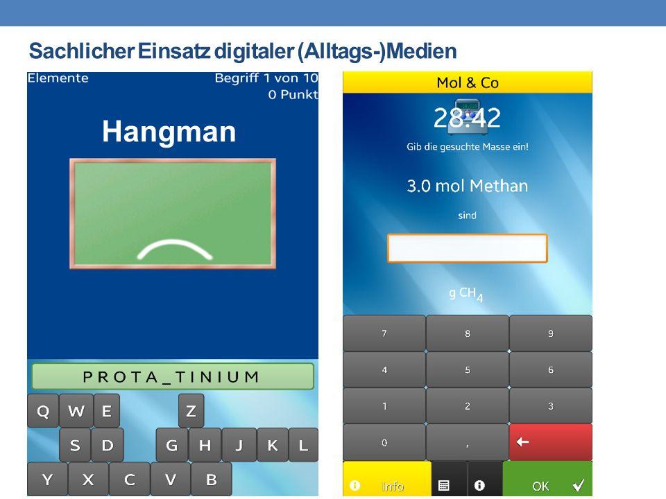 Sachlicher Einsatz digitaler (Alltags-)Medien Hangman