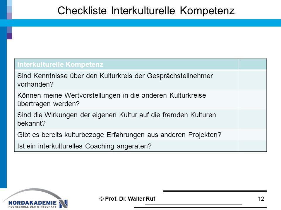 Checkliste Interkulturelle Kompetenz =========== In Tabelle schreiben!!!!!!!!! 12 Interkulturelle Kompetenz Sind Kenntnisse über den Kulturkreis der G