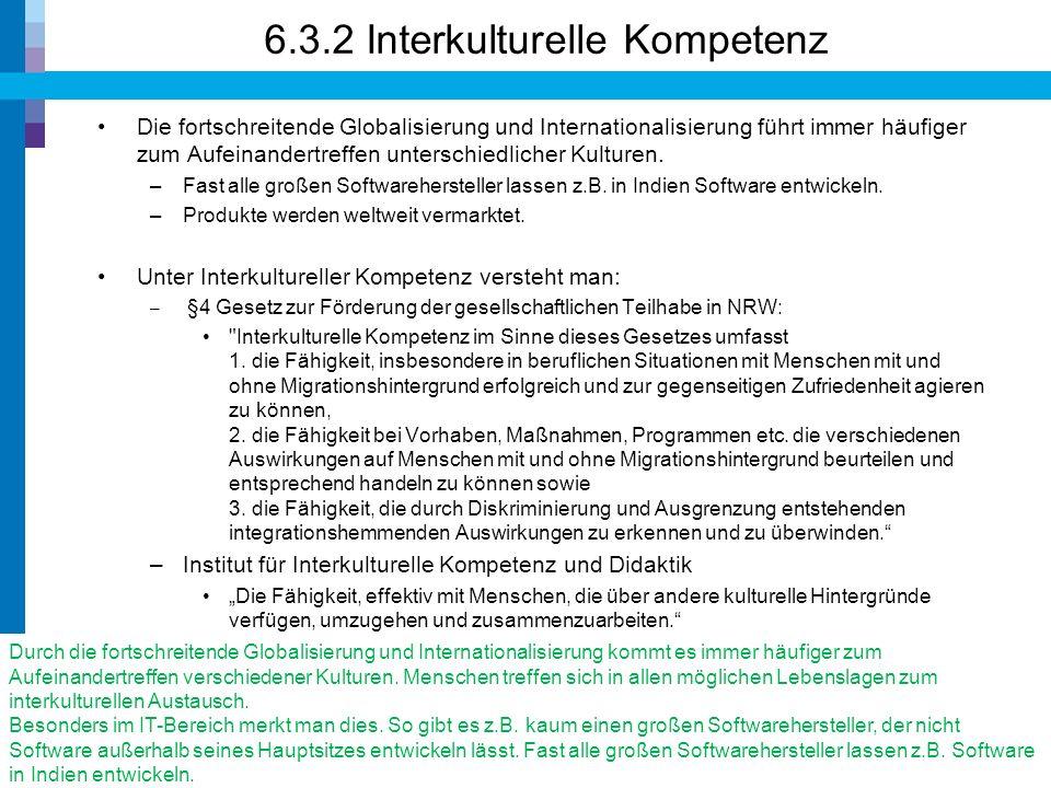 Beispiel: Interkulturelle Kompetenz 10© Prof. Dr. Walter Ruf