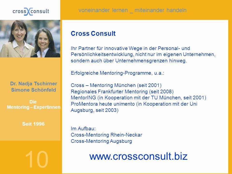 Cross Consult Ihr Partner für innovative Wege in der Personal- und Persönlichkeitsentwicklung, nicht nur im eigenen Unternehmen, sondern auch über Unt