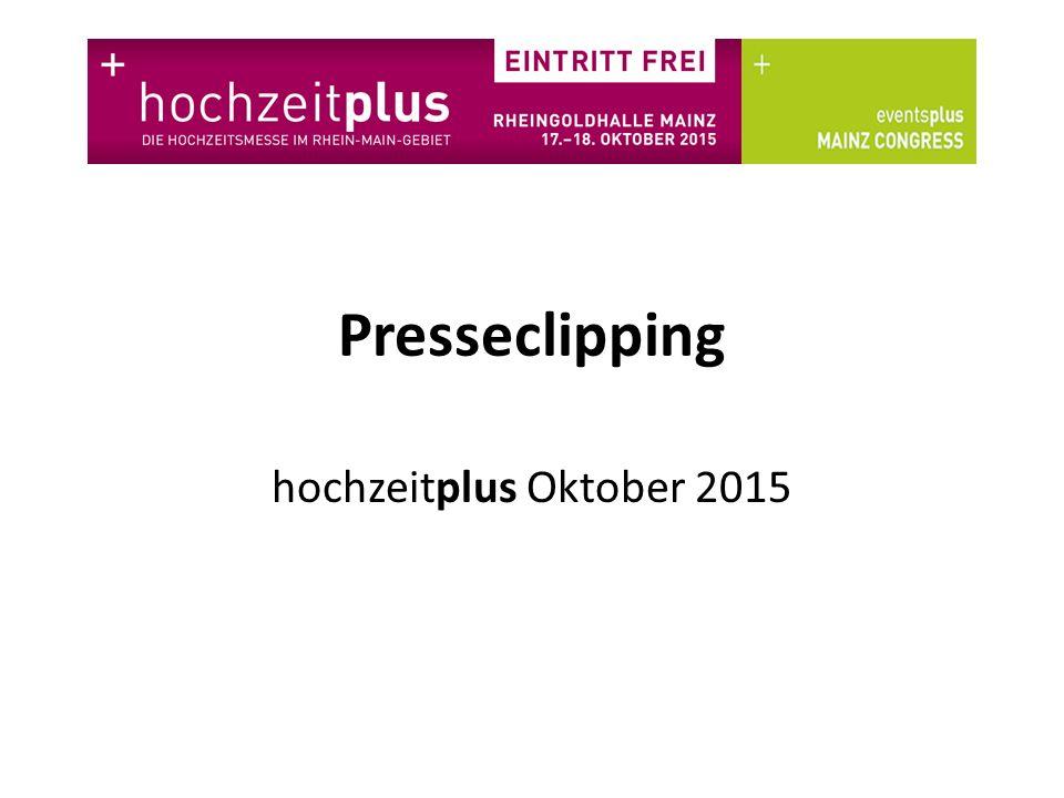 Presseclipping hochzeitplus Oktober 2015