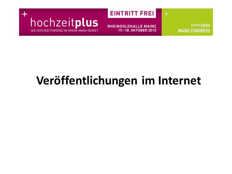 Veröffentlichungen im Internet