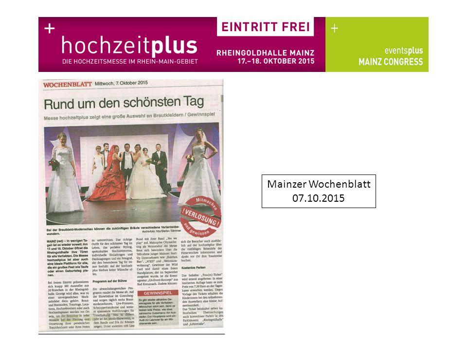 Mainzer Wochenblatt 07.10.2015