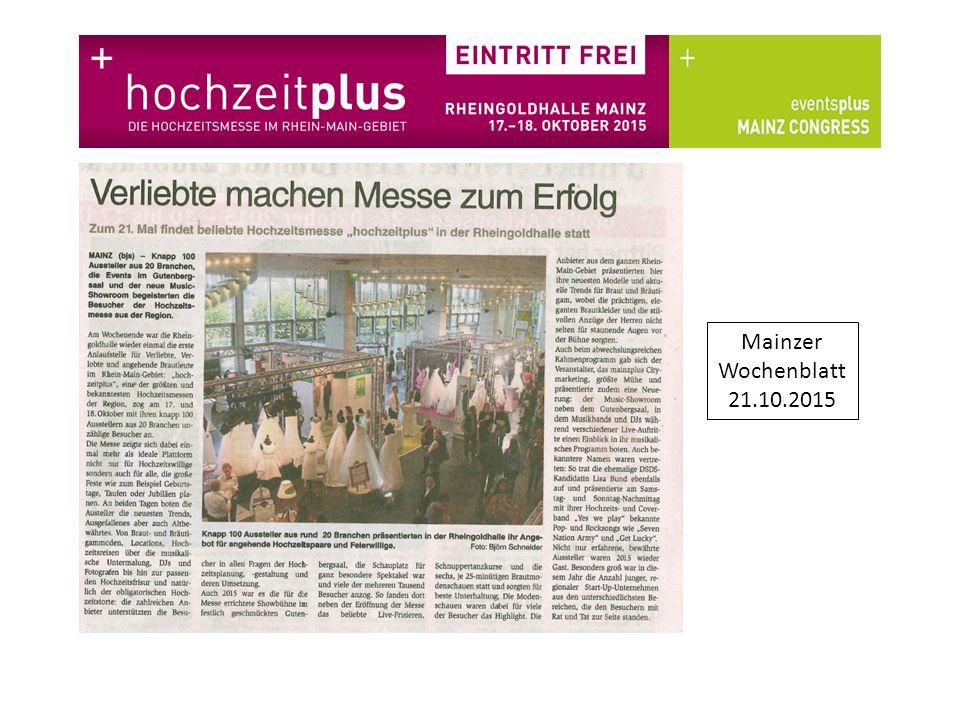 Mainzer Wochenblatt 21.10.2015