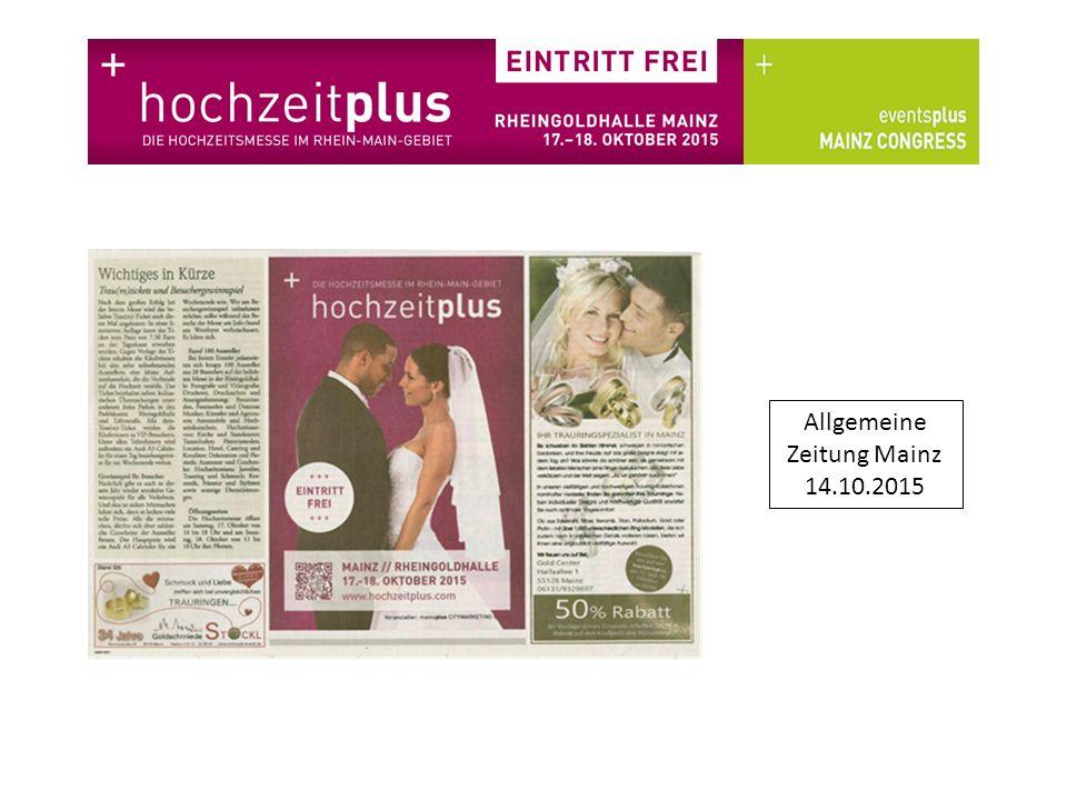 Allgemeine Zeitung Mainz 16.10.2015