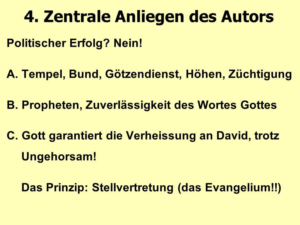 4. Zentrale Anliegen des Autors Politischer Erfolg.