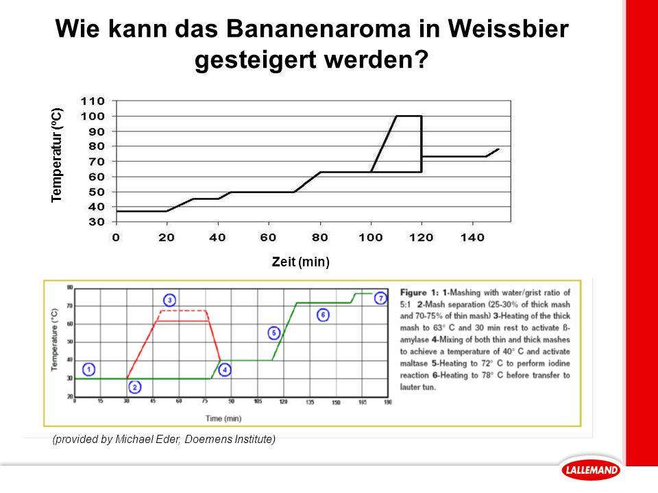 Wie kann das Bananenaroma in Weissbier gesteigert werden.