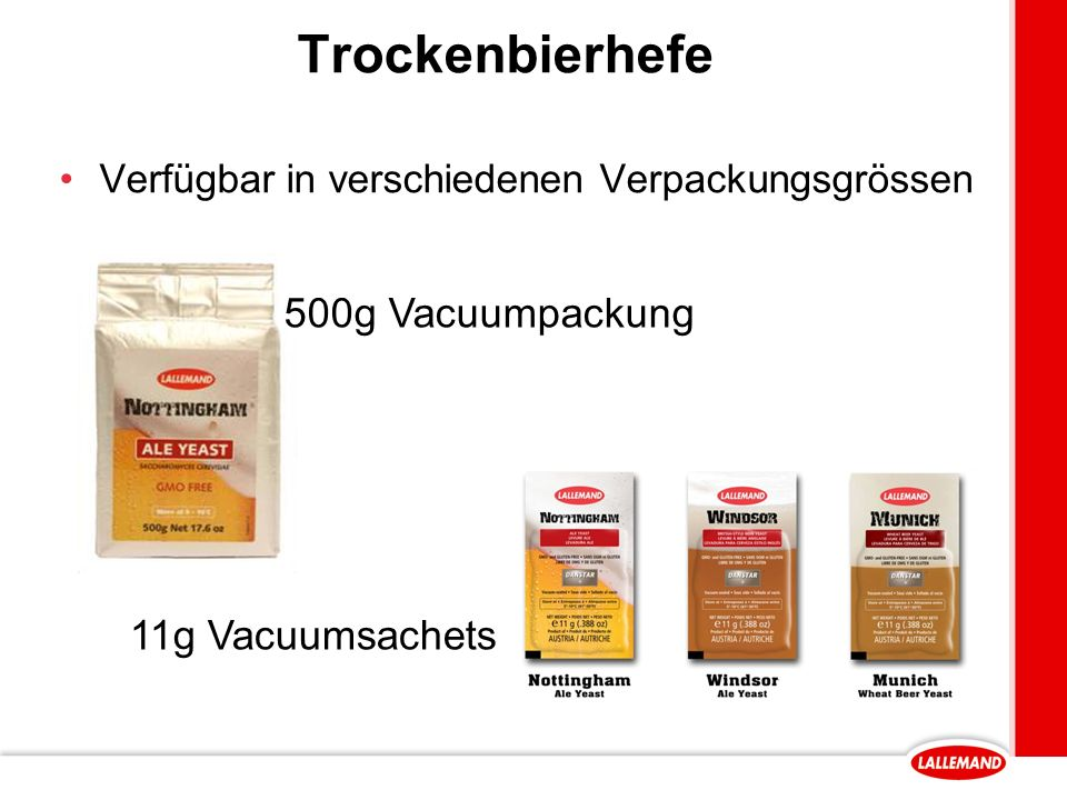 Trockenbierhefe Verfügbar in verschiedenen Verpackungsgrössen 500g Vacuumpackung 11g Vacuumsachets