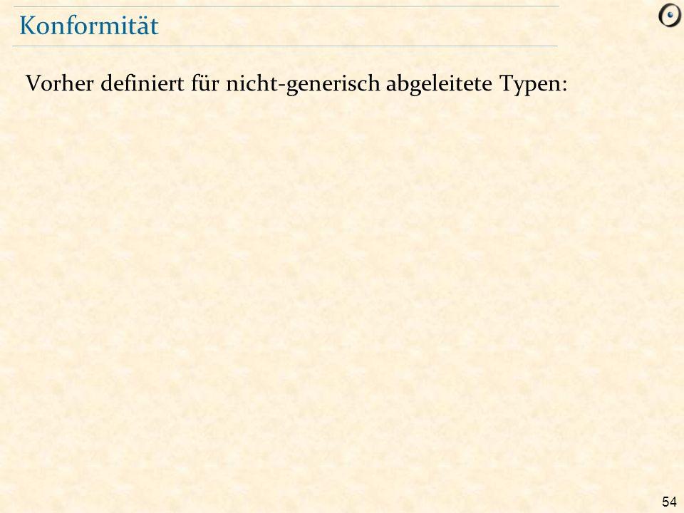 54 Konformität Vorher definiert für nicht-generisch abgeleitete Typen: