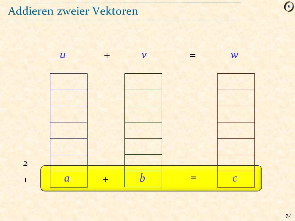 64 Addieren zweier Vektoren + =uvw 1 2